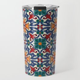 Colorful Azulejos Pattern Travel Mug
