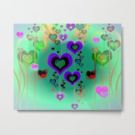 """Heart Burst"" Valentine Love Metal Print"