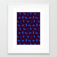 shiba Framed Art Prints featuring shiba inu by J-2