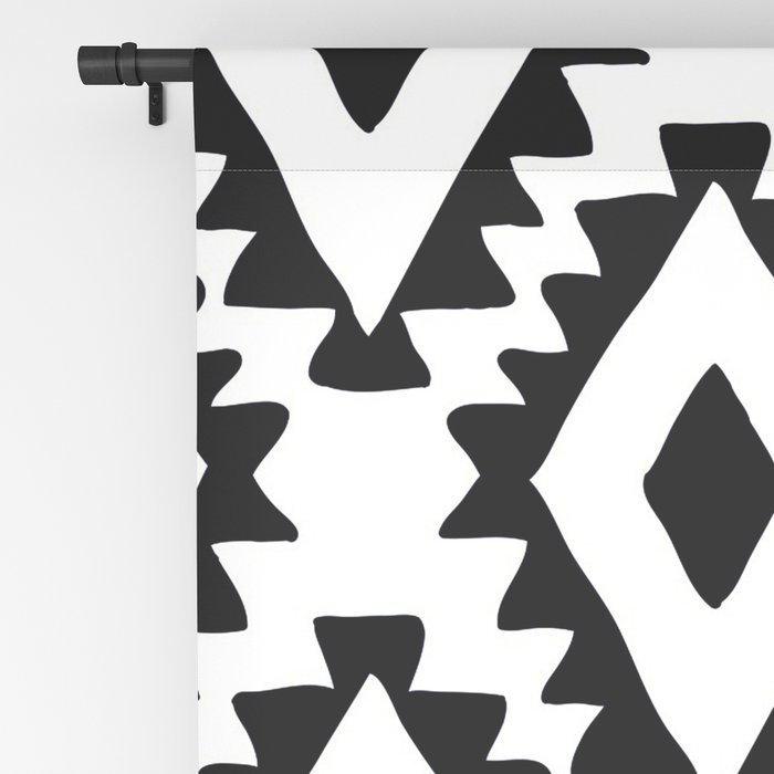 Aztec geometrics - B&W Blackout Curtain