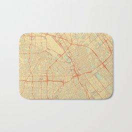 San Jose Map Retro Bath Mat