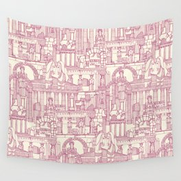 Ancient Greece cherry pearl Wall Tapestry