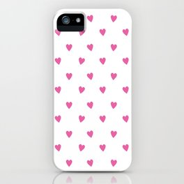 Flying Hearts (Pink) iPhone Case