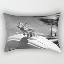Bulldog Hood Ornament Rectangular Pillow