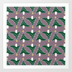 CHRISTMAS TREE PURPLE Art Print