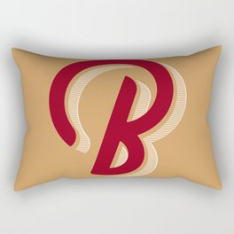BOLD 'B' DROPCAP Rectangular Pillow