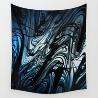 stained glass Wall Tapestries featuring STAINED GLASS by ..........