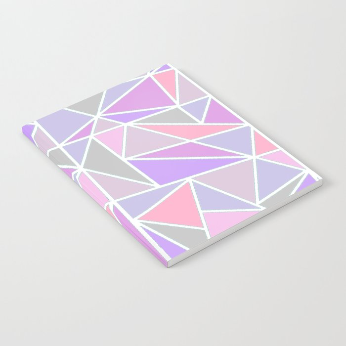 Pastel Shards Geometric Pattern Notebook