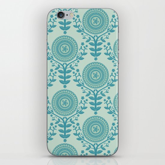 Paper Doily (BLUE) iPhone & iPod Skin