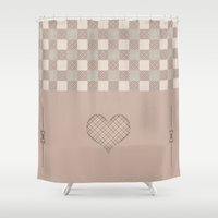home sweet home Shower Curtains featuring Home Sweet Home - 2 by Susann Mielke