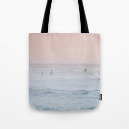 Pink Sky Ocean Tote Bag