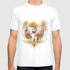 Potter Hedwig Owl White Mens Fitted Tee MEDIUM