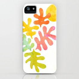 Colourful Foliage and Sun - Matisse inspired iPhone Case