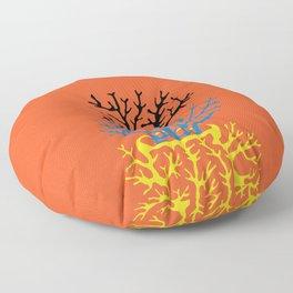 matisse coral Floor Pillow