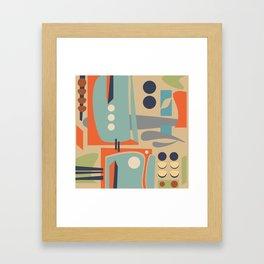 Mid Century Orange Framed Art Print