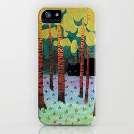 Tiger in Birchforest iPhone Case