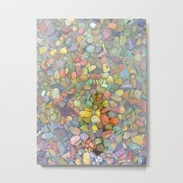 Rainbow Stones Metal Print