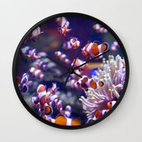 finding nemo Wall Clocks featuring Nemo by Arielle Walker