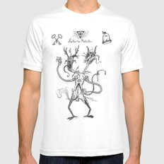 hakana matuta satan White MEDIUM Mens Fitted Tee