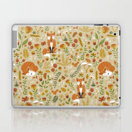 Foxes with Fall Foliage Laptop & iPad Skin