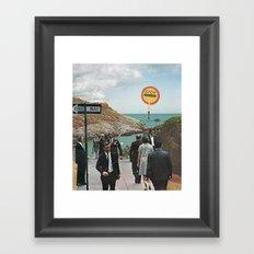 one way Framed Art Print