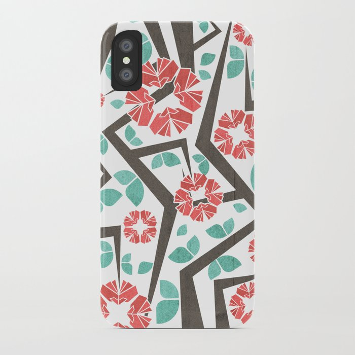 Blooming Trees Pattern IV iPhone Case