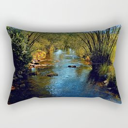 Vibrant river in autumn season Rectangular Pillow