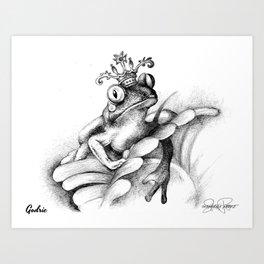 GODRIC Frog Prince Print Art Print