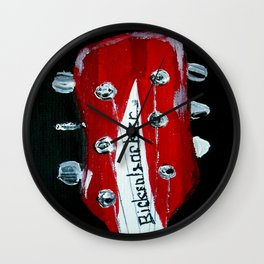 Rickenbacker Headstock Guitar Art Acrylic Painting Wall Clock