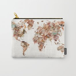 world map watercolour Carry-All Pouch