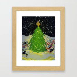 Tree Lighting Framed Art Print