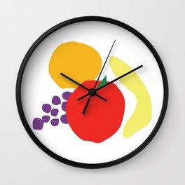 Digital still life—fruit Wall Clock