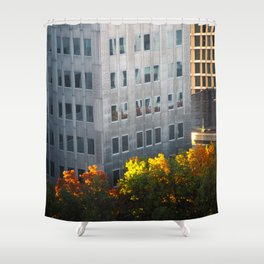 Fall in the city. Shower Curtain