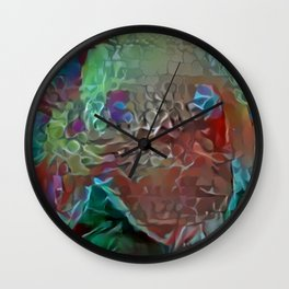Collaged New Mite Wall Clock