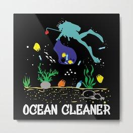 Ocean Cleaner Protection Metal Print