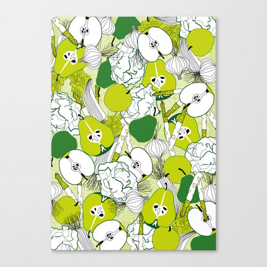 Vegetable pattern Canvas Print