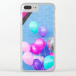 Colorful Balloons on Blue Clear iPhone Case
