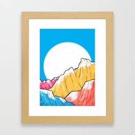 Blue Sky Mountains 2 Framed Art Print