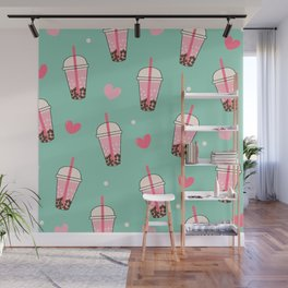 Boba Tea Love Wall Mural