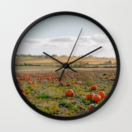 Pumpkin Picking Wall Clock