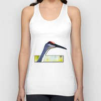 crane Tank Tops featuring Sandhill Crane by Roger Wedegis