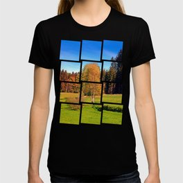 Tree in springtime scenery | landscape photography T-shirt