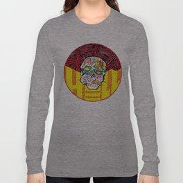 DEEP HELL TRI SKULL Long Sleeve T-shirt