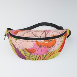 Bright Pink Flowers Fanny Pack