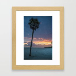one palm tree.  Framed Art Print