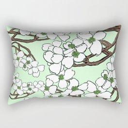 Dogwood mint Rectangular Pillow