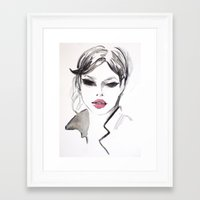 fashion illustration Framed Art Prints featuring Fashion illustration by Colorshop