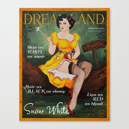 Dreamland Magazine Cover - Spring Ed. I - Snow White Canvas Print