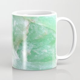 Crystalized Pale Green Quartz Slab with Copper Vein Coffee Mug