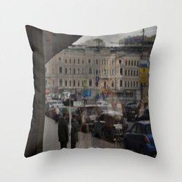 Moscow Opera Reflected Throw Pillow